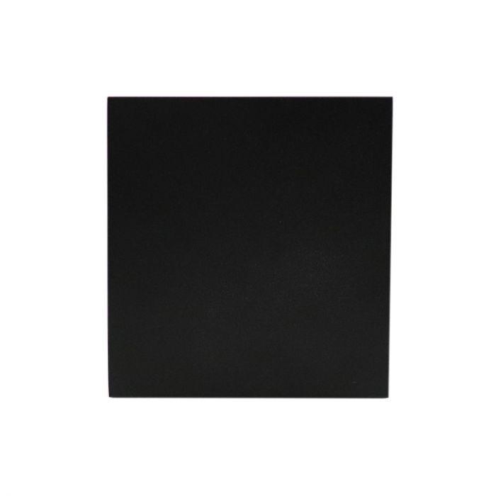 IP44 waterdichte opbouwspot Alion, zwart, vierkant