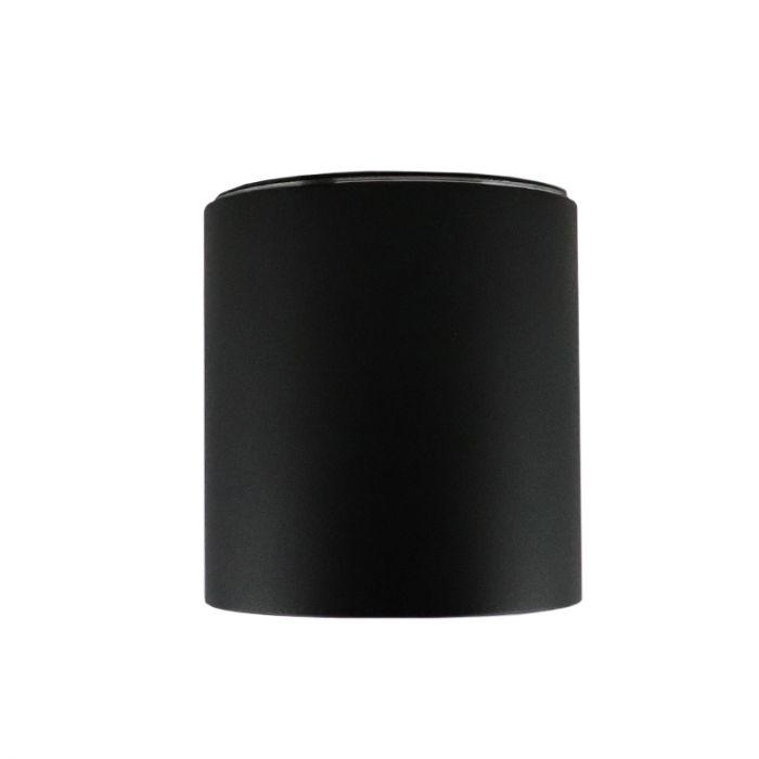 IP44 waterdichte opbouwspot Alion, zwart, rond