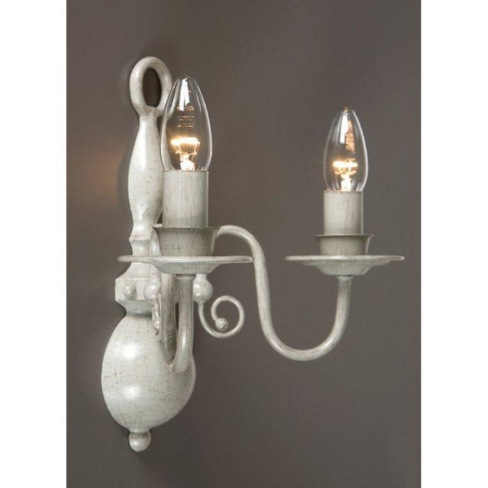 Grijze wandlamp Quincy II, klassiek 2L