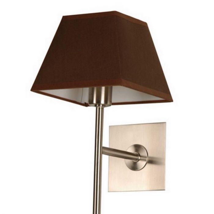 Stoffen Meba wandlamp, nikkel