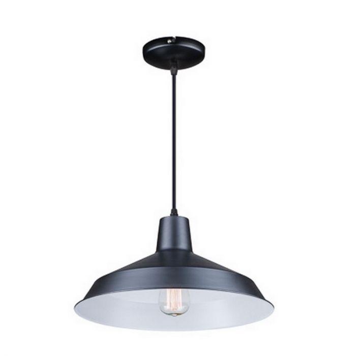 Zwarte hanglamp Raven klein, modern