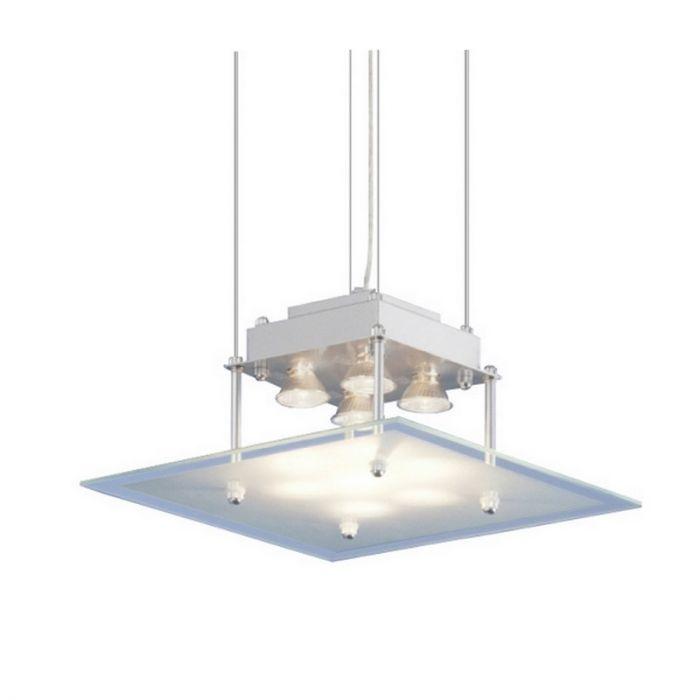 Vierkante hanglamp Jurjen modern, glas