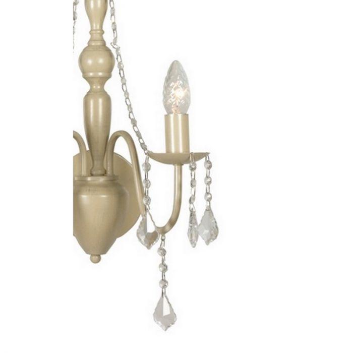 Klassieke Merlin wandlamp, grijs/taupe