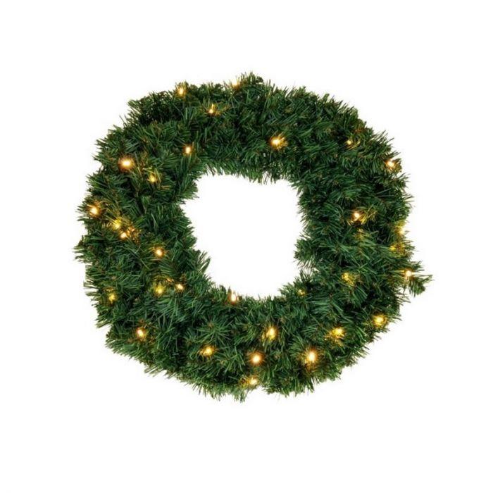 Groene kerstkrans Christy, 120 cm, incl. 140 leds