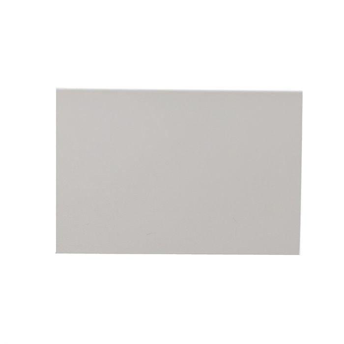 Rechthoekige, witte opbouwspot Dane, 2-spots, Richtbaar