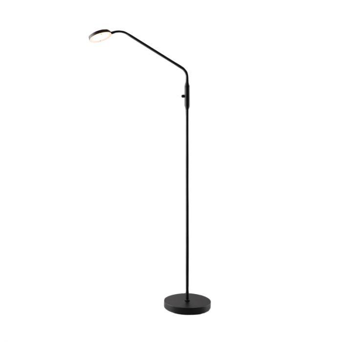 Zwarte staande leeslamp Salvador, 5w, met draaidimmer