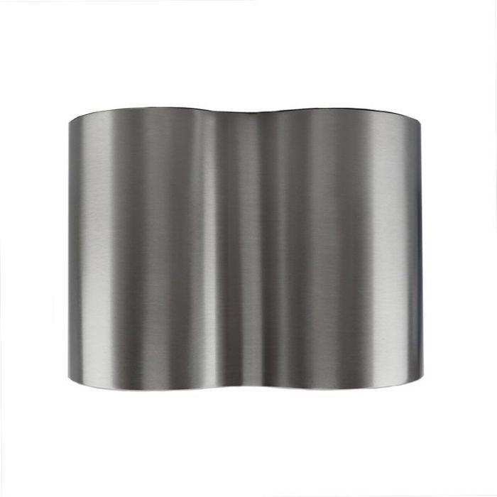 Langwerpige, zilvergrijze opbouwspot Onno, 2-spots, Richtbaar