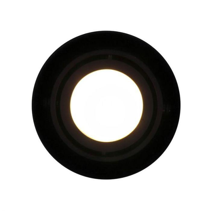Richtbare, zwarte opbouwspot Levi, Ronde zijkanten