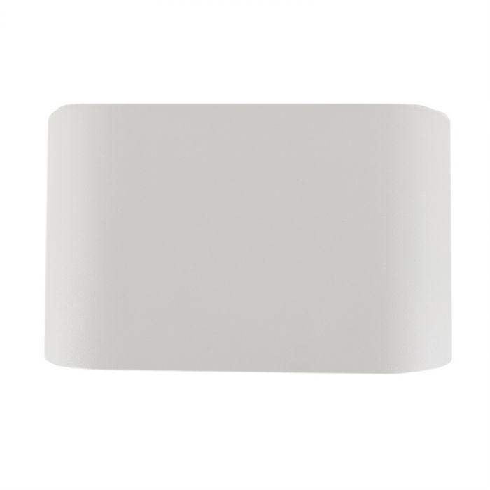Richtbare, witte opbouwspot Levi, 2-spots, Ronde zijkanten