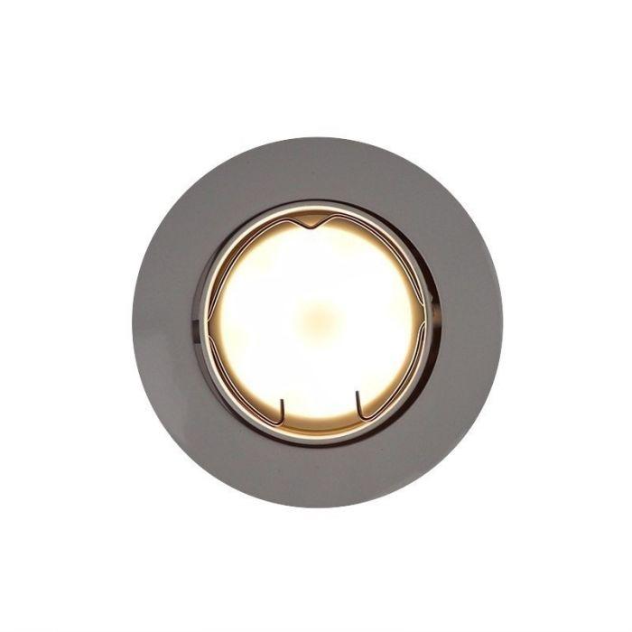 Witte kantelbare inbouwspot Rudo, kantelbaar