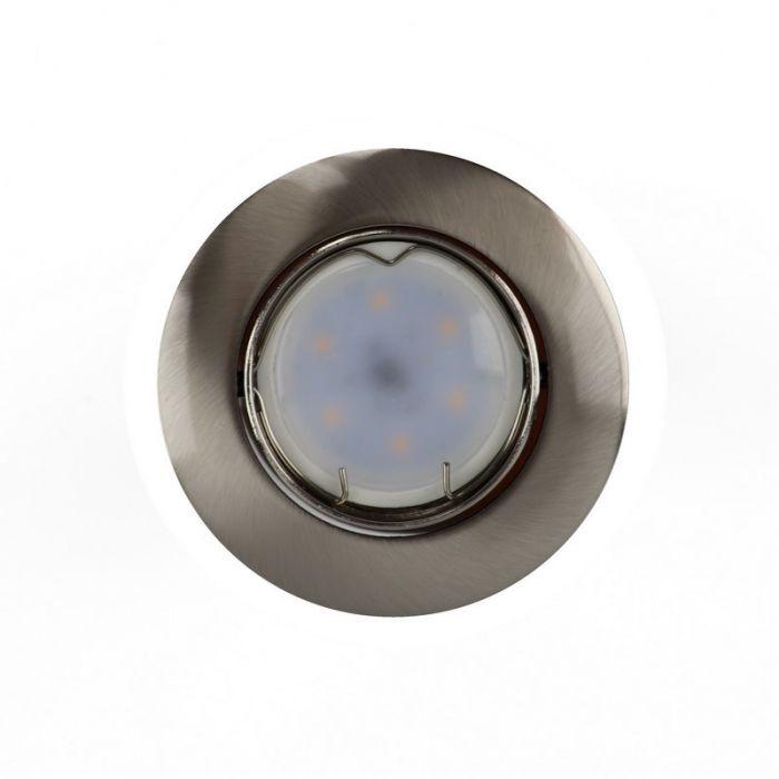 Zilvergrijze kantelbare inbouwspot Rudo, kantelbaar