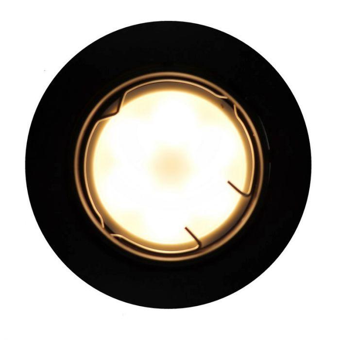 Zwarte kantelbare inbouwspot Ispi, kantelbaar