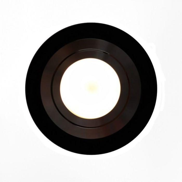 Zwarte ronde inbouwspot Heido