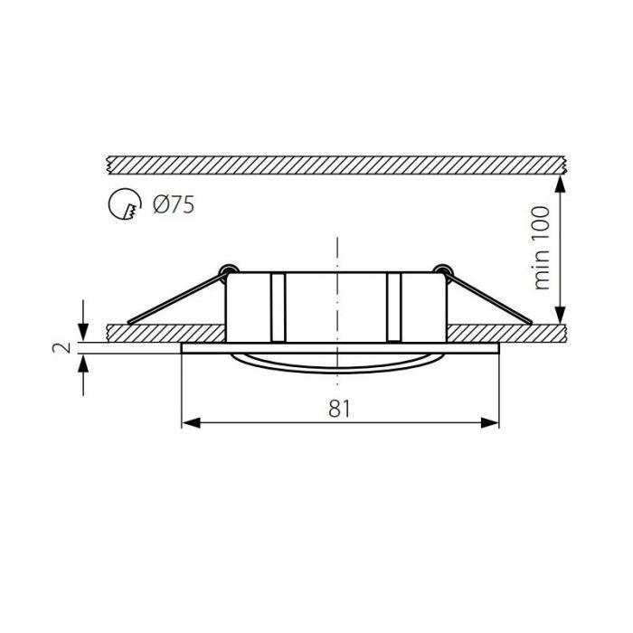 Mat chroom vierkante inbouwspot Ravi, kantelbaar
