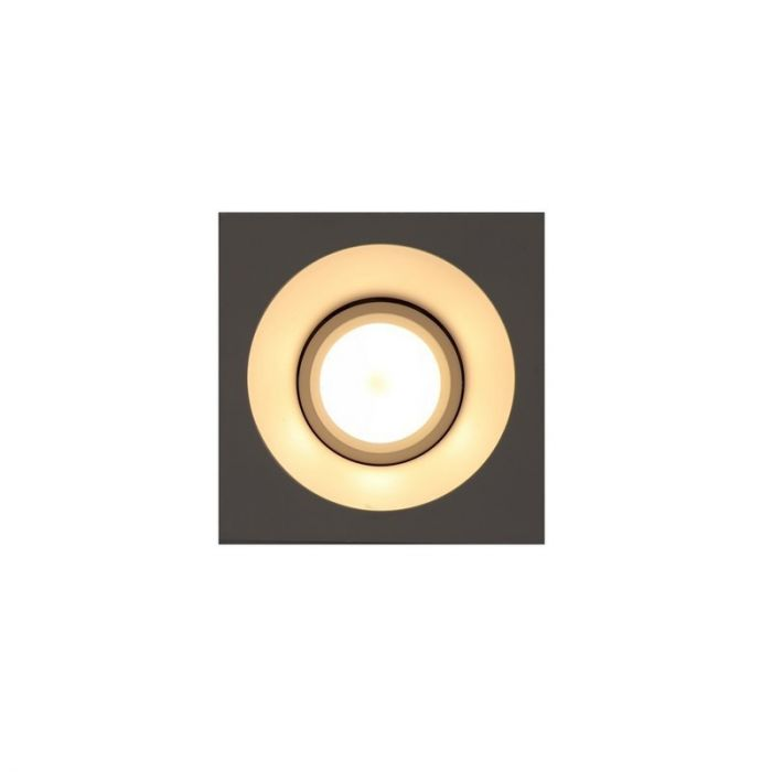 Vierkante inbouwspot Tyron, wit