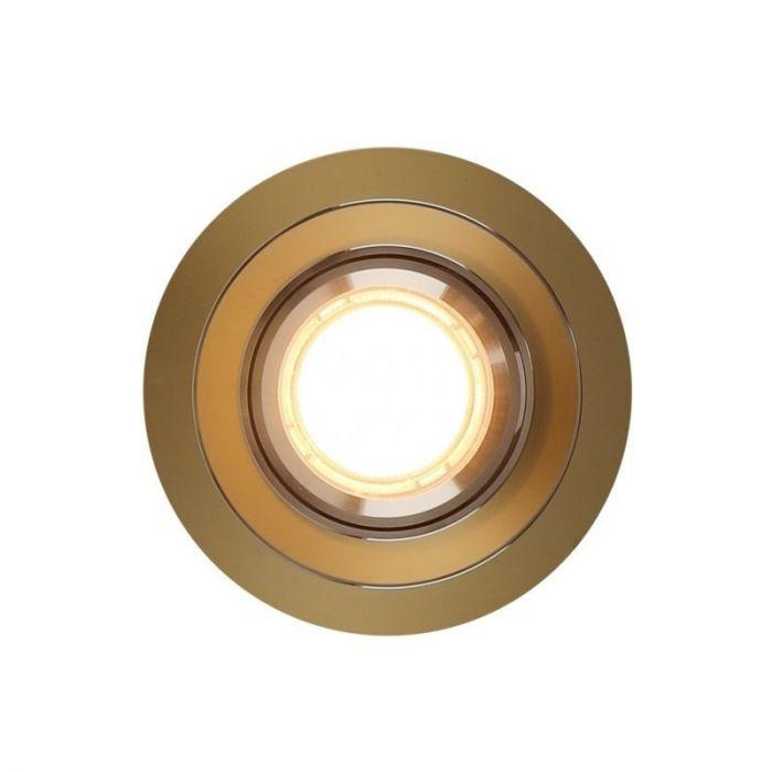 Ronde inbouwspot Tycho, goud