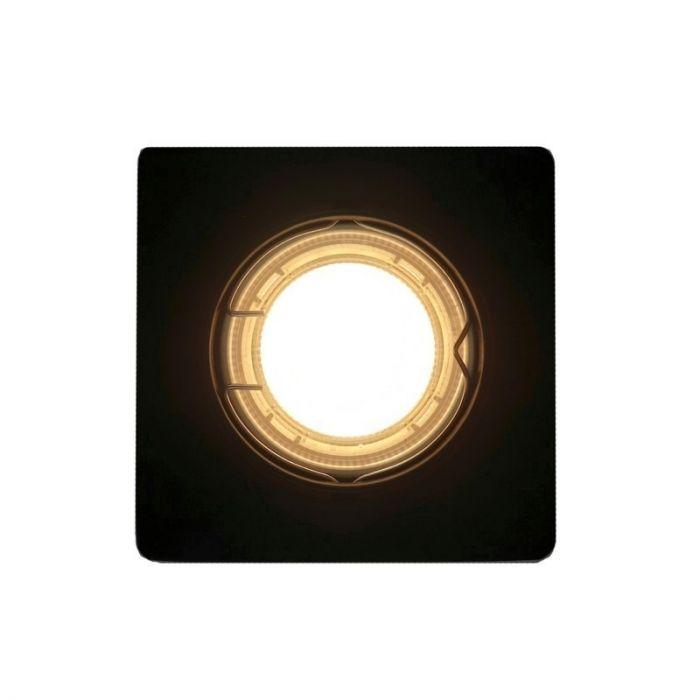 Kantelbare zwarte Filo inbouwspot,, Afgeronde hoeken