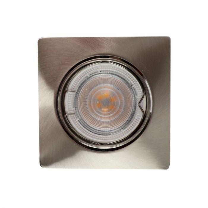 Kantelbare zilvergrijze Filo inbouwspot, Afgeronde hoeken