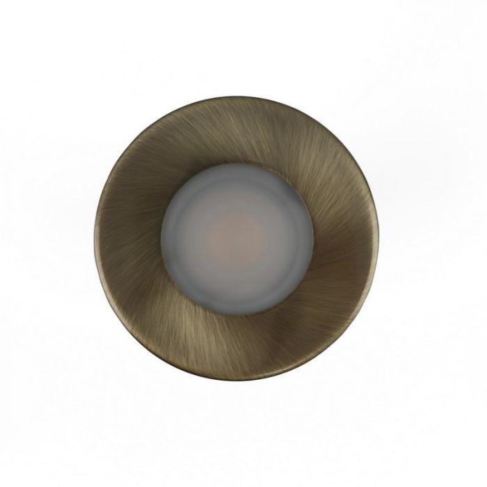 Ronde inbouwspot Mela, badkamer, brons