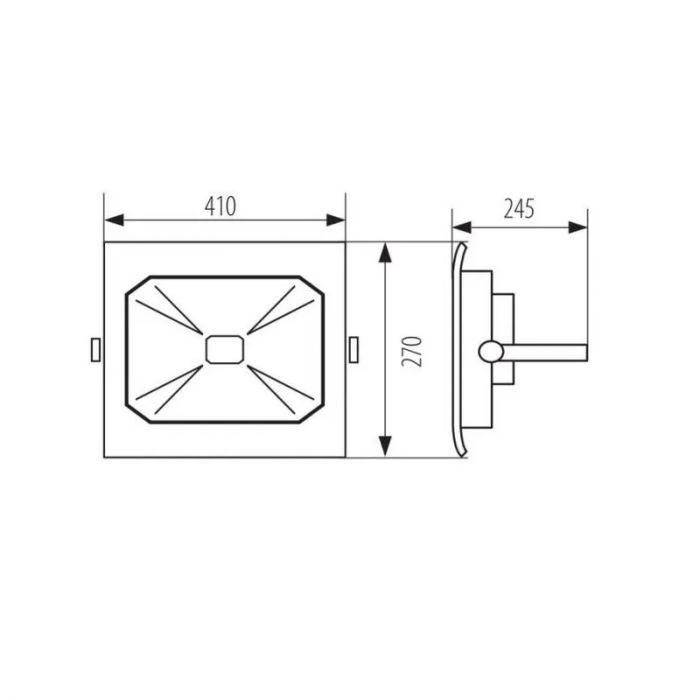 100 Watt LED schijnwerper Roda