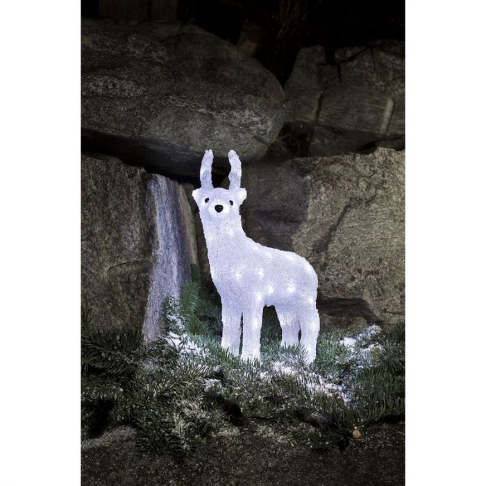 Acryl rendier kerst, LED - 38 cm hoog