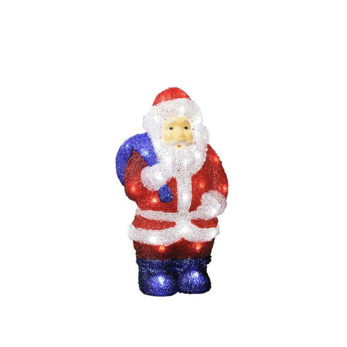 Verlichte kerstman, Acryl, 36 cm hoog
