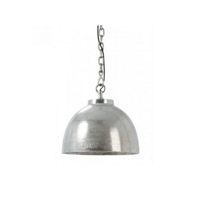 Ruw nikkel hanglamp Cowell - Met stoere ketting