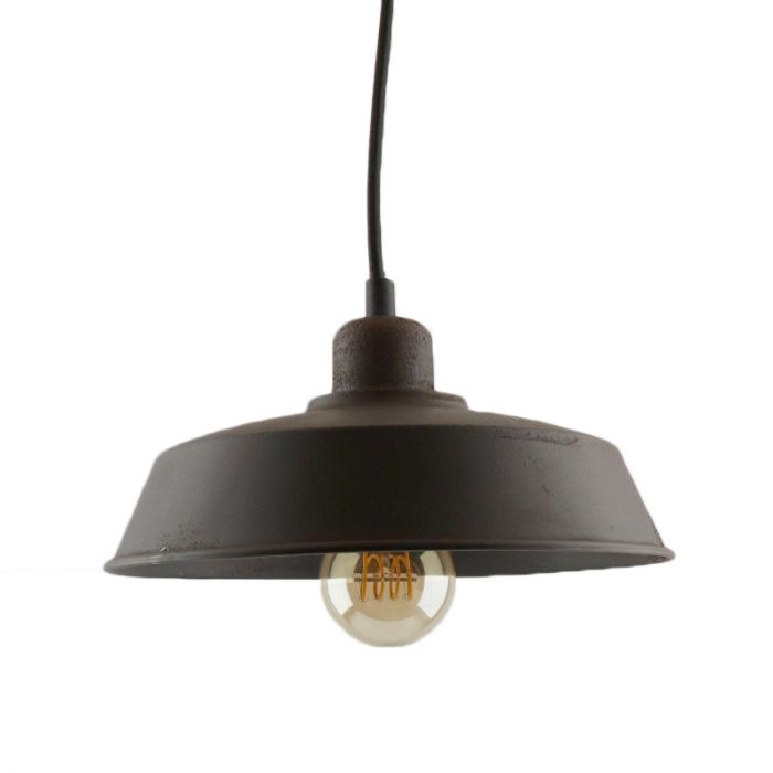 Landelijke, Industriële, Brocante Hanglamp Jennath - Roest