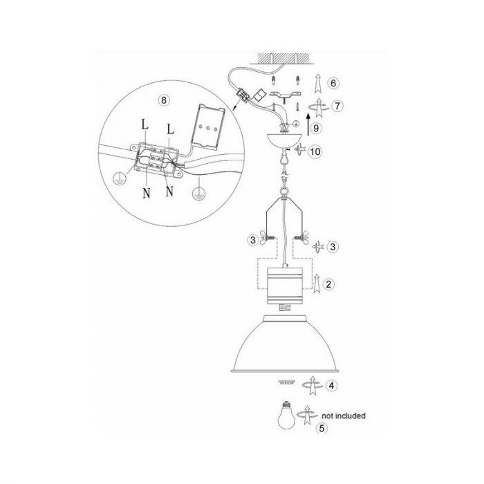 Landelijke, Industriële, Brocante Hanglamp Jennigje - Beton, Hout