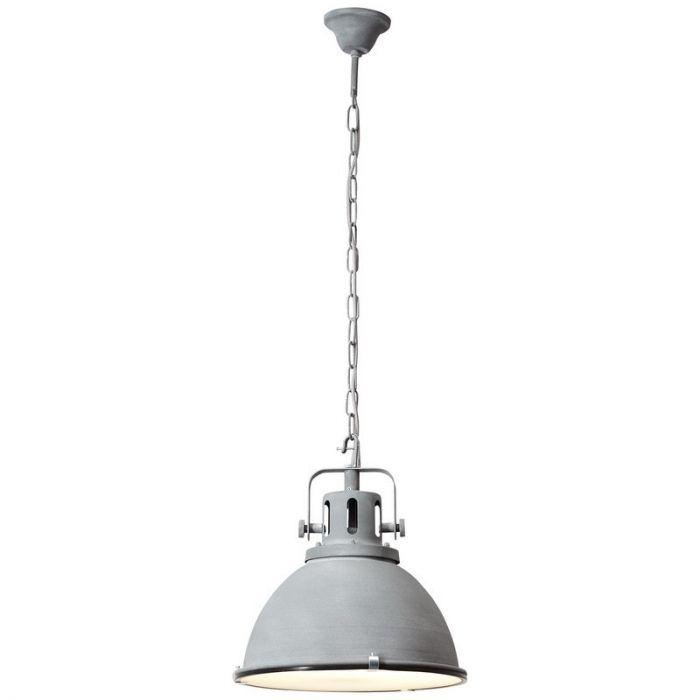 Industriële Hanglamp Jeslina - Beton Grijs