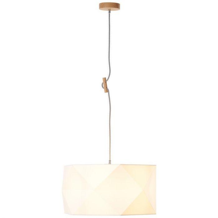 Moderne, Design Hanglamp Jeyceley - Eik, Wit