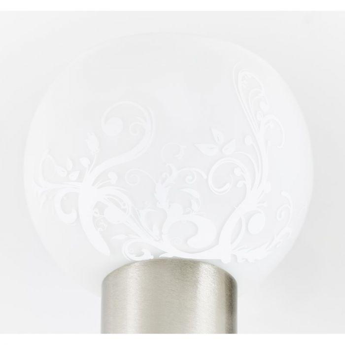 Ronde plafondlamp Lasse, Met mat gefigureerd glas