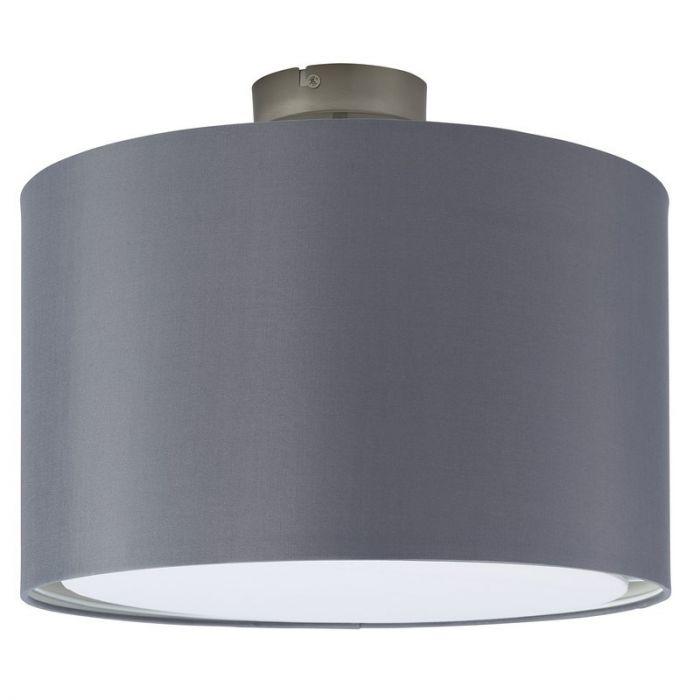 Grijze, stoffen plafondlamp Bendert