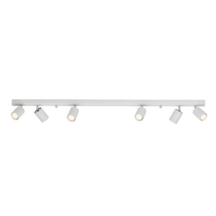 Witte, moderne plafondspot Rem, Extra breed
