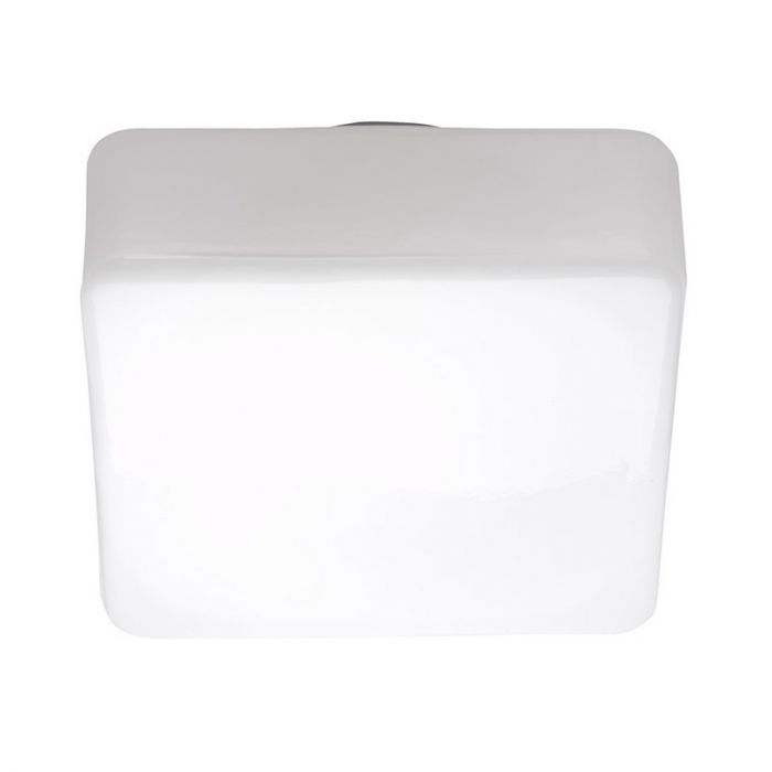 Grote, vierkante plafondlamp Tren, Wit