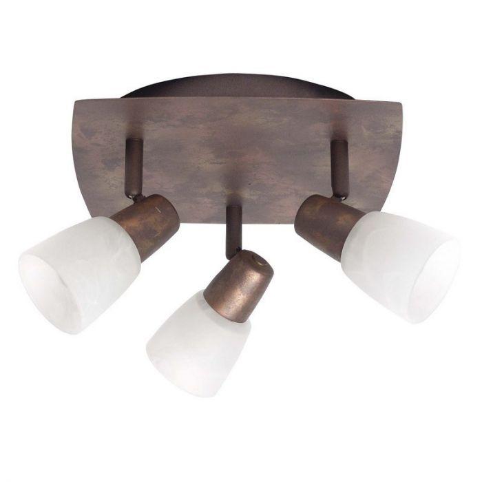 Plafondlamp Bono, Bruine, vierhoekige plafondplaat