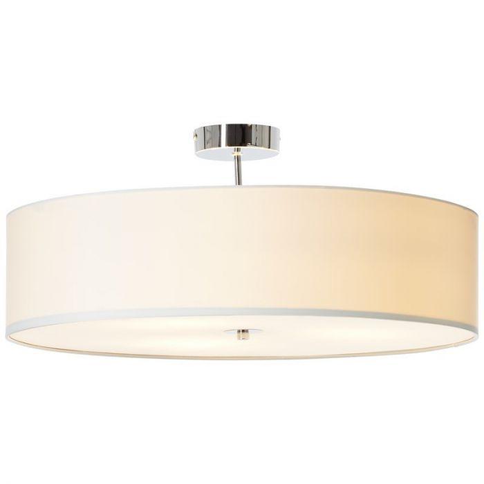 Witte plafondlamp Noraine - Glasplaat