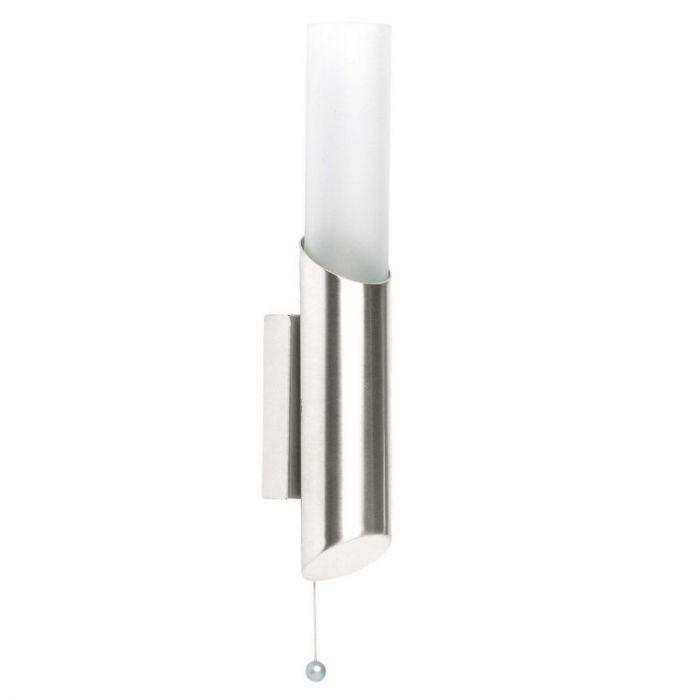 Mat chroom wandlamp Sarya