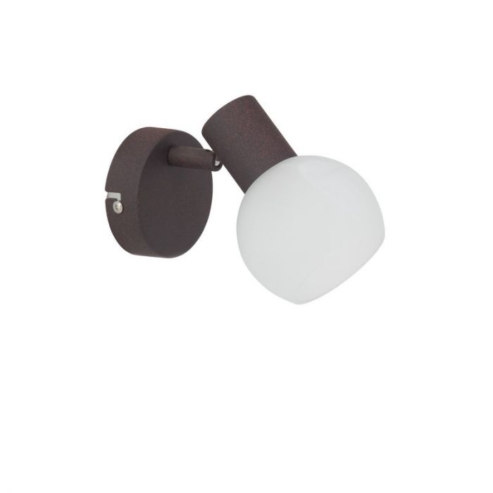 Bruine, Witte alabaster wandlamp Ya