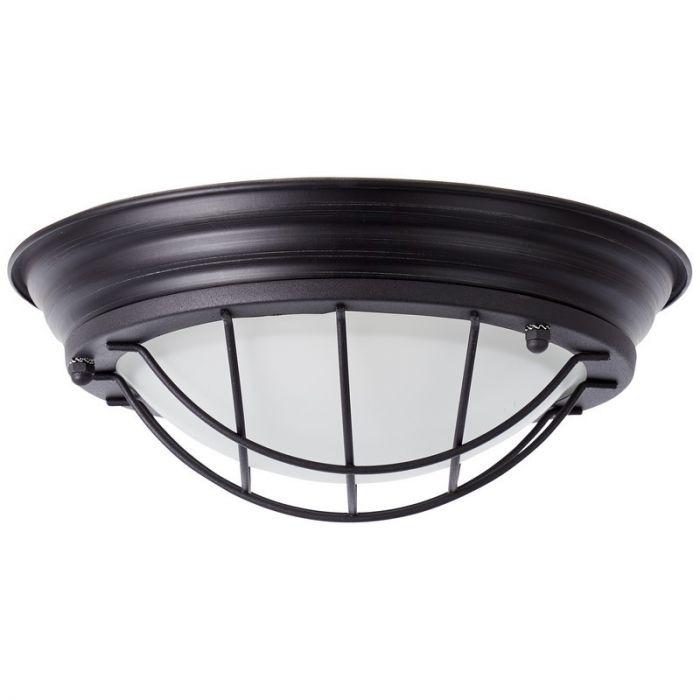 Industriële, Landelijke, Brocante wandlamp Keturah - Zwart