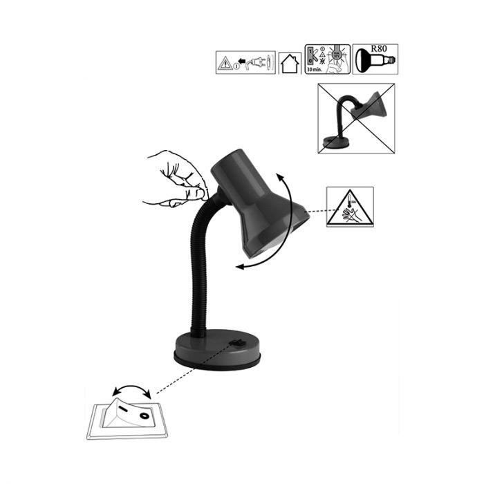 Witte bureaulamp Loe