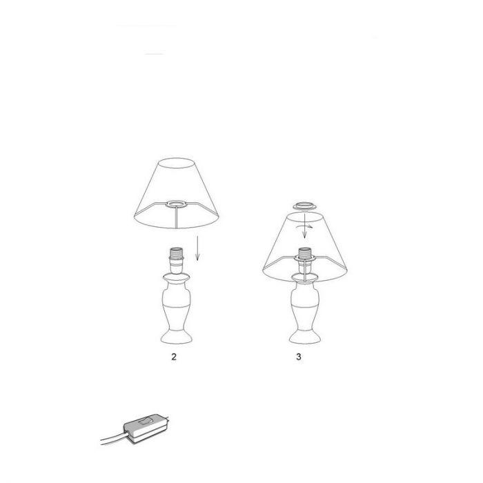 Witte tafellamp Micayla