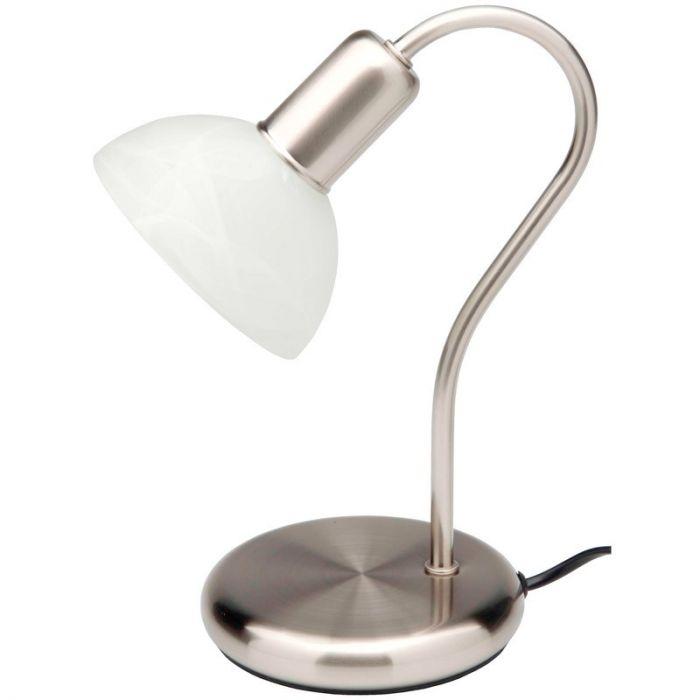 Mat chroom tafellamp Pari