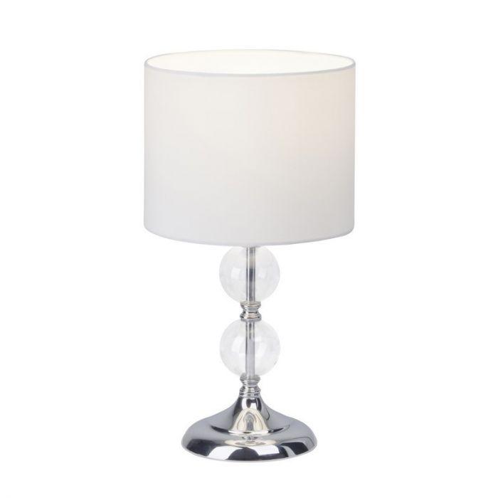 Chroom, Witte tafellamp Ravi