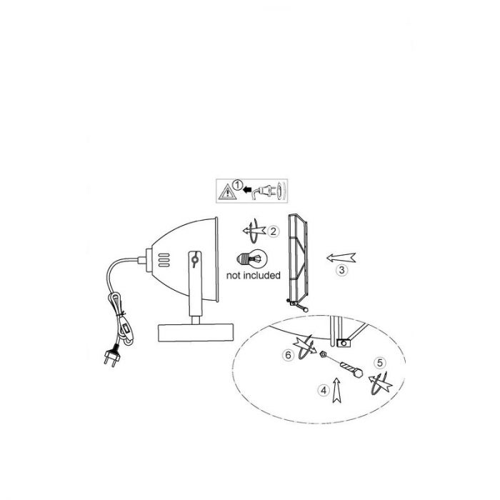 Industriële Tafellamp Juuls - Beton Grijs