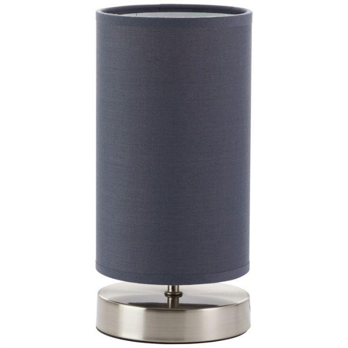 Mat chroom, Grijze tafellamp Merith