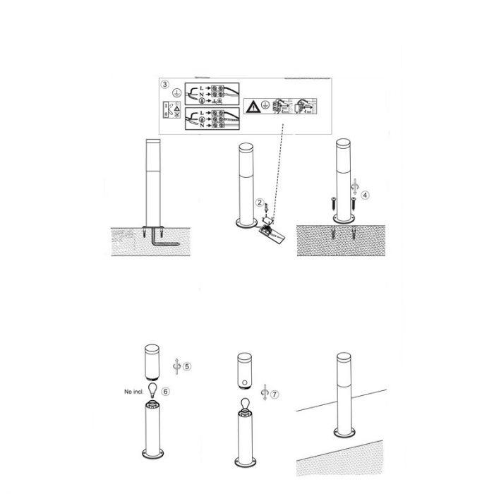 Chroom buiten vloerlamp Thijmen - Chroom, metaal