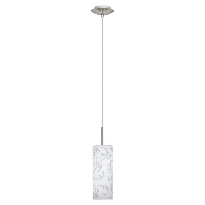 Glas hanglamp Pine Melglas met klassieke figuraties