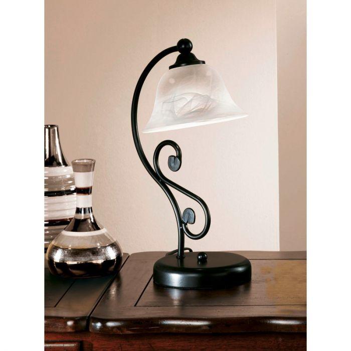 Malage tafellamp Landelijk / Klassiek Zwart / Wit