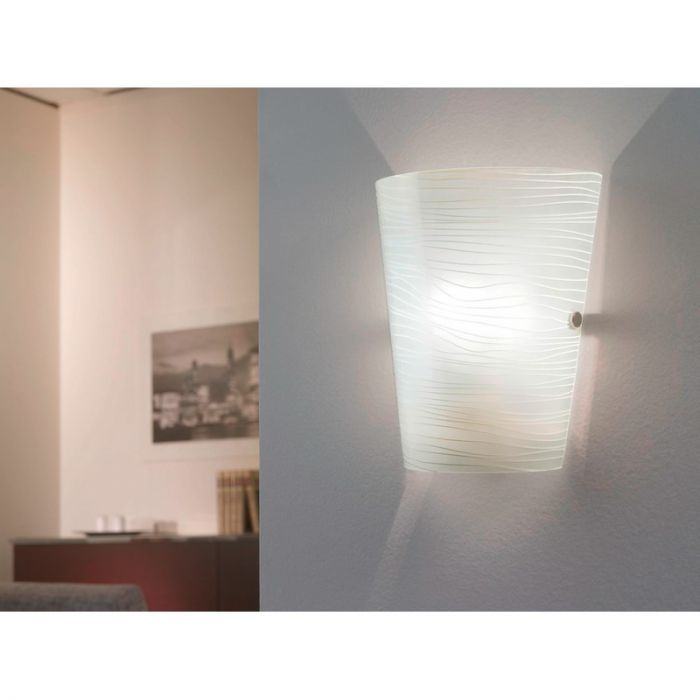 Grancia wandlamp Gesatineerd glas